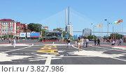 Центральная площадь Владивостока во время саммита АТЭС (2012 год). Редакционное фото, фотограф Наталья Силинская / Фотобанк Лори