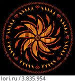 Купить «Индийский орнамент», иллюстрация № 3835954 (c) Инна Грязнова / Фотобанк Лори