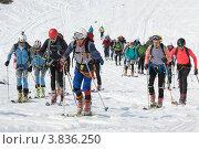 Купить «Ски-альпинизм. Камчатка», фото № 3836250, снято 21 апреля 2012 г. (c) А. А. Пирагис / Фотобанк Лори