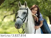 Верховая езда. Стоковое фото, фотограф Игорь Долгов / Фотобанк Лори