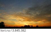 Купить «Красивый закат, таймлапс», видеоролик № 3845382, снято 17 сентября 2012 г. (c) Михаил Коханчиков / Фотобанк Лори