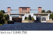 Купить «Рыбинск. Шлюз», фото № 3849758, снято 18 августа 2011 г. (c) Алексей Шипов / Фотобанк Лори