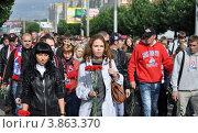 Купить «Марш Тишины в Ярославле», фото № 3863370, снято 6 сентября 2012 г. (c) Голованов Сергей / Фотобанк Лори