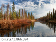 Весенний пейзаж реки. Стоковое фото, фотограф Юрий Дворников / Фотобанк Лори
