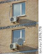 Купить «Фрагмент здания. Новокосинская улица, 14к7. Район Новокосино. Москва», эксклюзивное фото № 3876778, снято 20 сентября 2012 г. (c) lana1501 / Фотобанк Лори