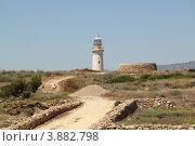 Купить «Маяк рядом с античным городом (Кипр, Пафос)», фото № 3882798, снято 31 мая 2012 г. (c) Хименков Николай / Фотобанк Лори