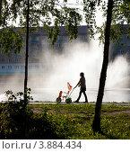 Город Зеленодольск, Республика Татарстан, городское озеро (2012 год). Стоковое фото, фотограф Александр Журавлев / Фотобанк Лори