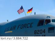 Купить «Передняя часть стратегического военно-транспортного самолета Boeing C-17 Globemaster. Международная авиакосмическая выставка (ILA 2012), Берлин. Германия», фото № 3884722, снято 14 сентября 2012 г. (c) Sergey Kohl / Фотобанк Лори