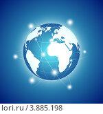 Купить «Планета Земля - концепция глобальных коммуникаций», иллюстрация № 3885198 (c) Евгения Малахова / Фотобанк Лори