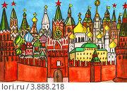 Купить «Москва, гуашь», иллюстрация № 3888218 (c) ИВА Афонская / Фотобанк Лори