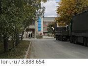 Берёзовский завод строительных конструкций, проходная (2012 год). Редакционное фото, фотограф Оксана Мурзина / Фотобанк Лори