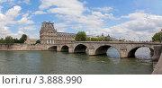 Купить «Париж. Сена. Королевский мост (Pont Royal). Лувр», фото № 3888990, снято 23 июня 2012 г. (c) Виктор Тараканов / Фотобанк Лори