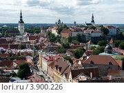 Эстония. Таллин. Вид на старый город и холм Тоомпеа (2012 год). Стоковое фото, фотограф Александр Лопарев / Фотобанк Лори