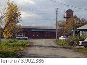 Пожарная часть, город Арамиль, Свердловская область (2012 год). Редакционное фото, фотограф Оксана Мурзина / Фотобанк Лори