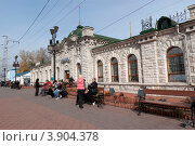 Железнодорожный вокзал. Город Слюдянка, Иркутская область (2012 год). Редакционное фото, фотограф Виталий Штырц / Фотобанк Лори