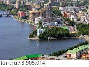 Вид на Екатеринбург с высоты (2012 год). Редакционное фото, фотограф Госьков Александр / Фотобанк Лори