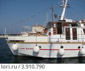 Купить «Корабль стоит на причале в Адриатическом море. Хорватия, Европа», эксклюзивное фото № 3910790, снято 22 апреля 2019 г. (c) lana1501 / Фотобанк Лори