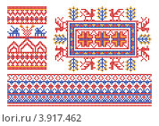 Традиционный славянский узор. Стоковая иллюстрация, иллюстратор Silanti / Фотобанк Лори
