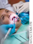 Купить «Девушка в кресле стоматолога», фото № 3920770, снято 9 июня 2012 г. (c) CandyBox Images / Фотобанк Лори