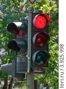 Купить «Светофор, дорожное движение», фото № 3925998, снято 23 августа 2012 г. (c) Светлана Самаркина / Фотобанк Лори