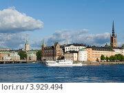 Швеция. Стокгольм. Вид на  Гамла Стан. (2012 год). Редакционное фото, фотограф Александр Лопарев / Фотобанк Лори