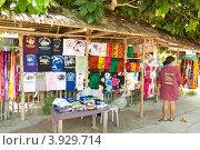 Купить «Остров Апо. Продажа сувениров», фото № 3929714, снято 2 мая 2012 г. (c) Сергей Дубров / Фотобанк Лори