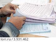 Купить «Подсчет избирательных бюллетеней. Единый день голосования», фото № 3931462, снято 14 октября 2012 г. (c) А. А. Пирагис / Фотобанк Лори