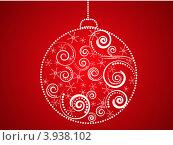 Новогодний шарик. Стоковая иллюстрация, иллюстратор Чичина Марина / Фотобанк Лори