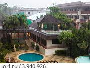 Отель Таиланда тропический ливень (2012 год). Стоковое фото, фотограф Чуракова Анна / Фотобанк Лори