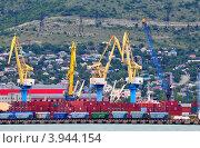 Купить «Контейнерный груз в порту Новороссийска», фото № 3944154, снято 25 мая 2012 г. (c) Анна Мартынова / Фотобанк Лори