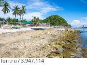 Купить «Пляж филиппинской деревни на острове Апо», фото № 3947114, снято 4 мая 2012 г. (c) Сергей Дубров / Фотобанк Лори