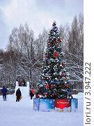 Новогодняя елка в одном из парков Москвы (2012 год). Редакционное фото, фотограф Евгений Тучков / Фотобанк Лори