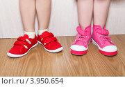 Слева - неправильно надетая, справа - правильно надетая обувь. Стоковое фото, фотограф Кекяляйнен Андрей / Фотобанк Лори