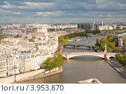 Франция, Париж, вид с Собора Парижской Богоматери, фото № 3953870, снято 29 апреля 2012 г. (c) Алексей Ширманов / Фотобанк Лори