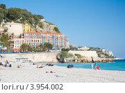 Купить «Франция, Ницца. Пляж», фото № 3954002, снято 3 мая 2012 г. (c) Алексей Ширманов / Фотобанк Лори