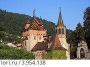 Замок в горах. Стоковое фото, фотограф Сергей Рыбаков / Фотобанк Лори
