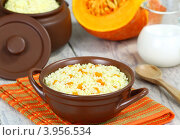 Купить «Пшенная каша с тыквой», фото № 3956534, снято 17 октября 2012 г. (c) Надежда Мишкова / Фотобанк Лори