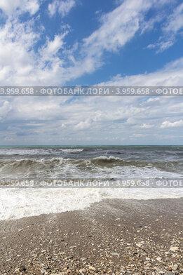Купить «Штормовое Черное море в конце лета», фото № 3959658, снято 29 августа 2012 г. (c) Владимир Сергеев / Фотобанк Лори