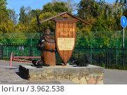 Купить «Г. Орел, декоративная скульптура из дерева с картой парка на входе в детский парк», фото № 3962538, снято 21 сентября 2012 г. (c) Наталья Спиридонова / Фотобанк Лори