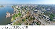 Купить «Город Новосибирск с вертолета», фото № 3965618, снято 10 июня 2012 г. (c) Александр Маркин / Фотобанк Лори
