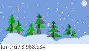Зимний пейзаж. Стоковая иллюстрация, иллюстратор Илюхина Наталья / Фотобанк Лори