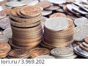 Купить «Монеты, россыпь», эксклюзивное фото № 3969202, снято 28 октября 2012 г. (c) Алексей Букреев / Фотобанк Лори