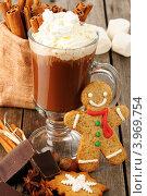 Купить «Горячий шоколад и пряник», фото № 3969754, снято 26 октября 2012 г. (c) Николай Охитин / Фотобанк Лори