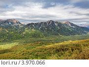 Купить «Камчатка, горный пейзаж, пасмурный вечер», фото № 3970066, снято 17 сентября 2011 г. (c) Игорь Долгов / Фотобанк Лори
