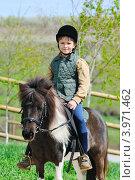 Мальчик на своем пони. Стоковое фото, фотограф Титаренко Елена / Фотобанк Лори