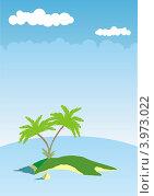 Необитаемый остров. Стоковая иллюстрация, иллюстратор Якунин Алексей / Фотобанк Лори