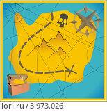 Карта сокровищ. Стоковая иллюстрация, иллюстратор Якунин Алексей / Фотобанк Лори