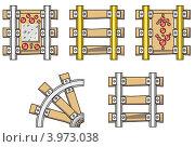 Серия элементов железной дороги. Стоковая иллюстрация, иллюстратор Якунин Алексей / Фотобанк Лори
