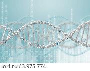 Купить «Структура молекулы ДНК на голубом фоне», иллюстрация № 3975774 (c) Sergey Nivens / Фотобанк Лори