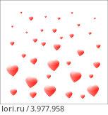 Сердца на белом фоне. Стоковая иллюстрация, иллюстратор Ирина Жулябина / Фотобанк Лори